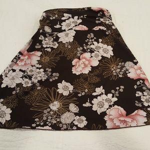 Slinky brown skirt